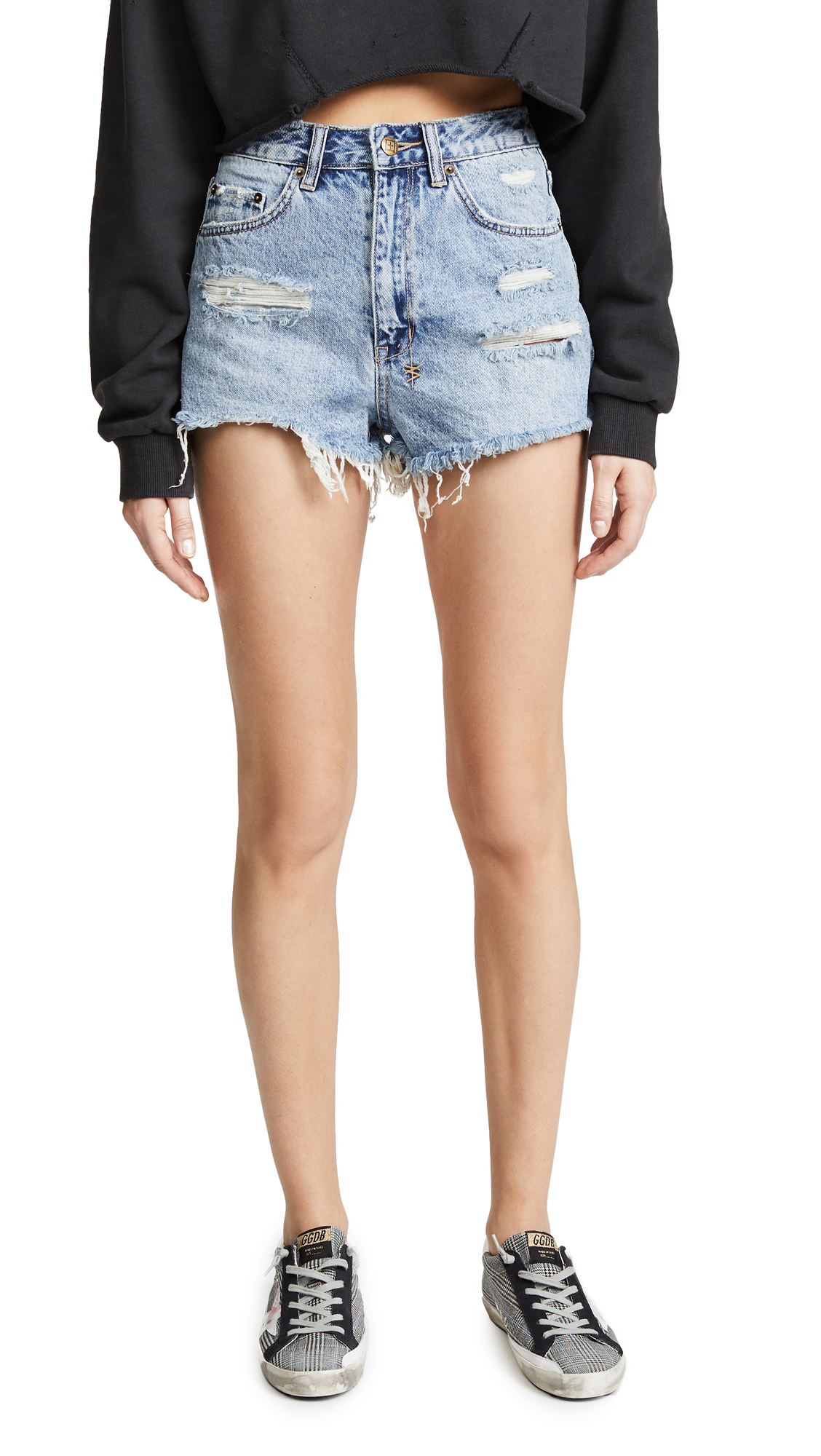 Ksubi Clas-Sick Cut Off Shorts In Bae Blue