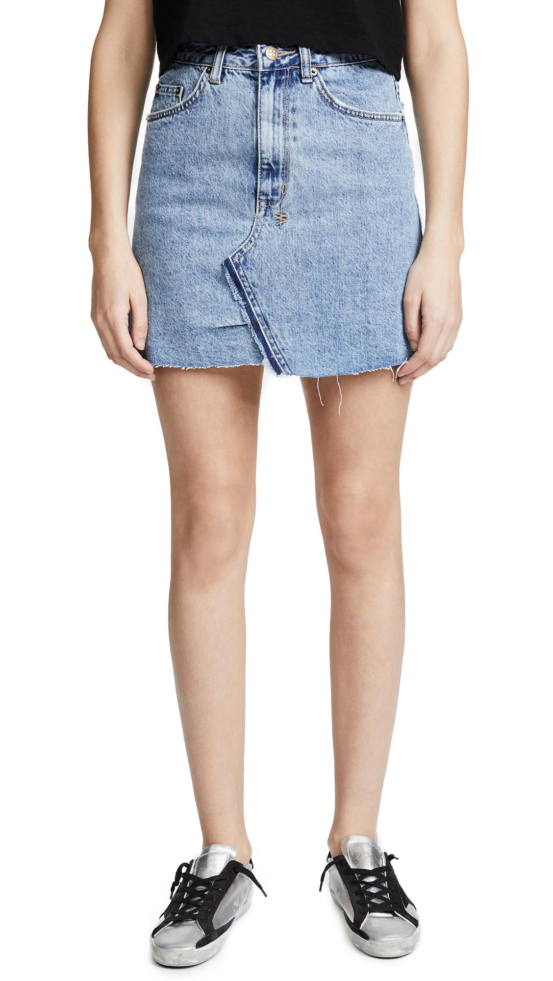 Ksubi High Line Miniskirt In Bae Blue