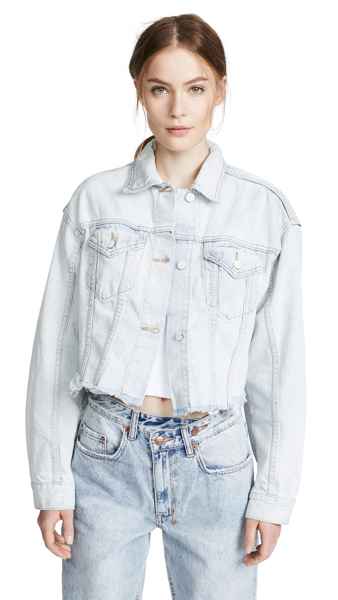 Ksubi Daggerz Crop Jean Jacket In Elite Blue