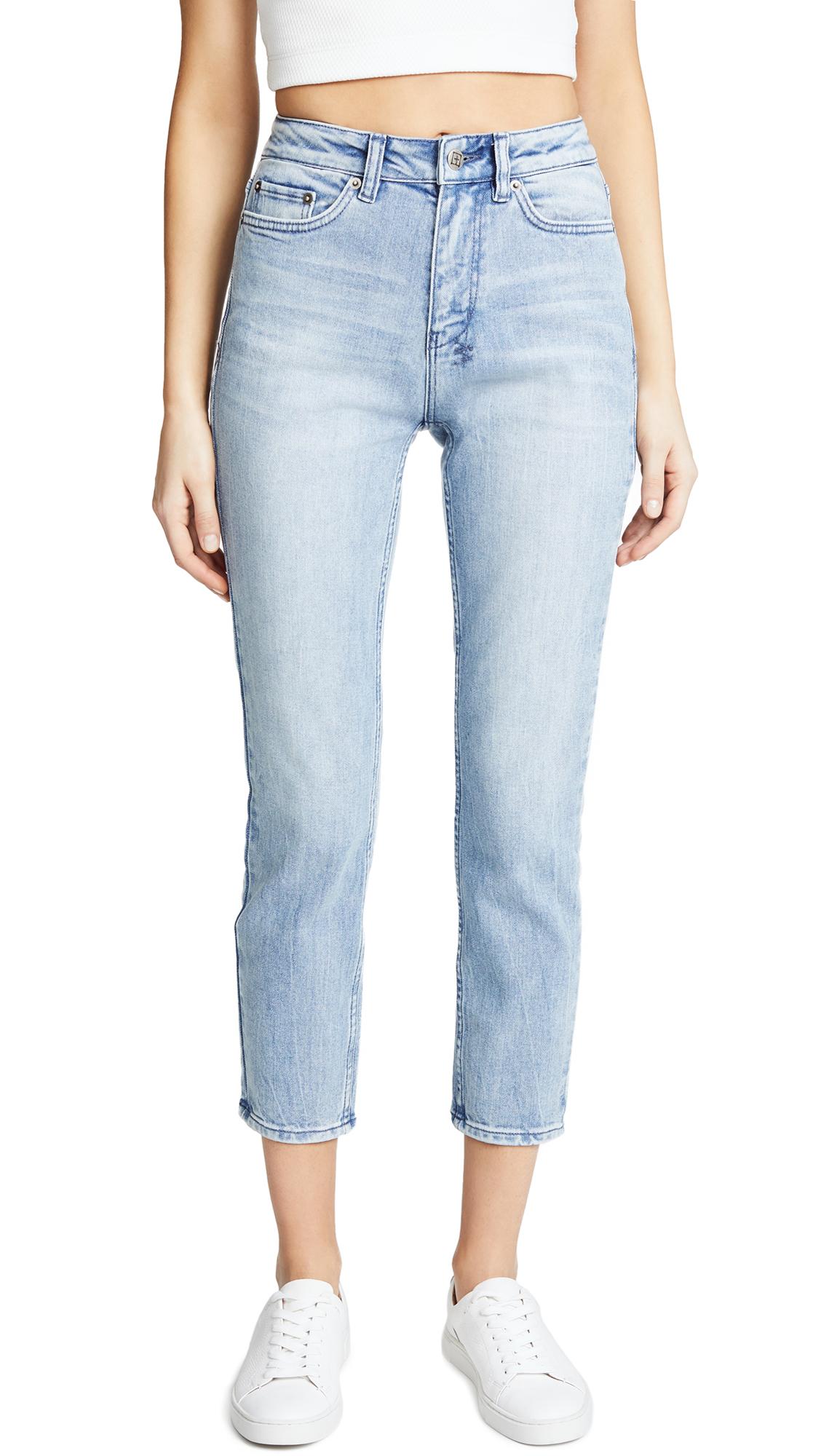 Ksubi The Slim Pin Crop Jeans In Errrday Blue