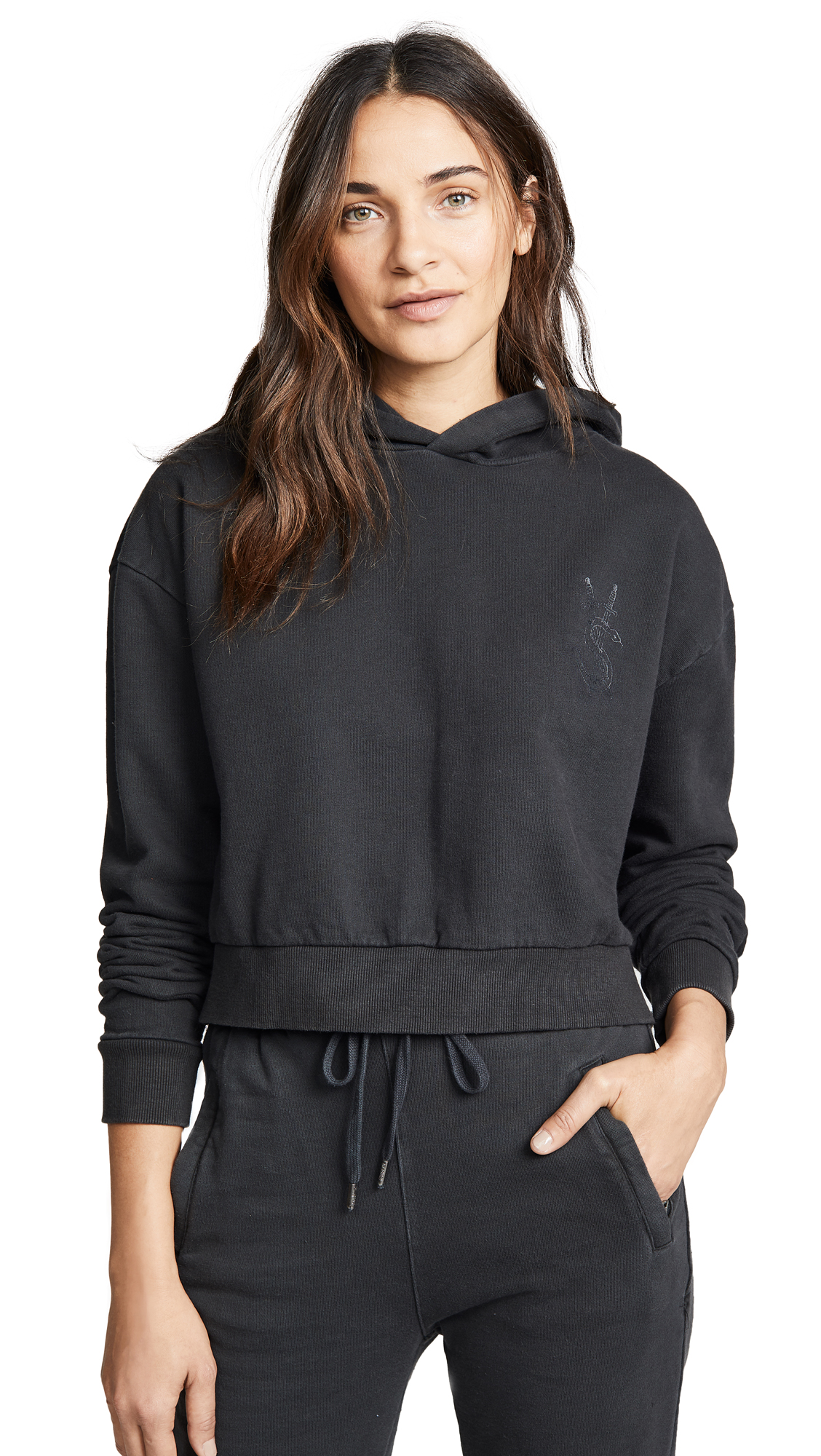 NO DOLLAR CROPPED HOODIE