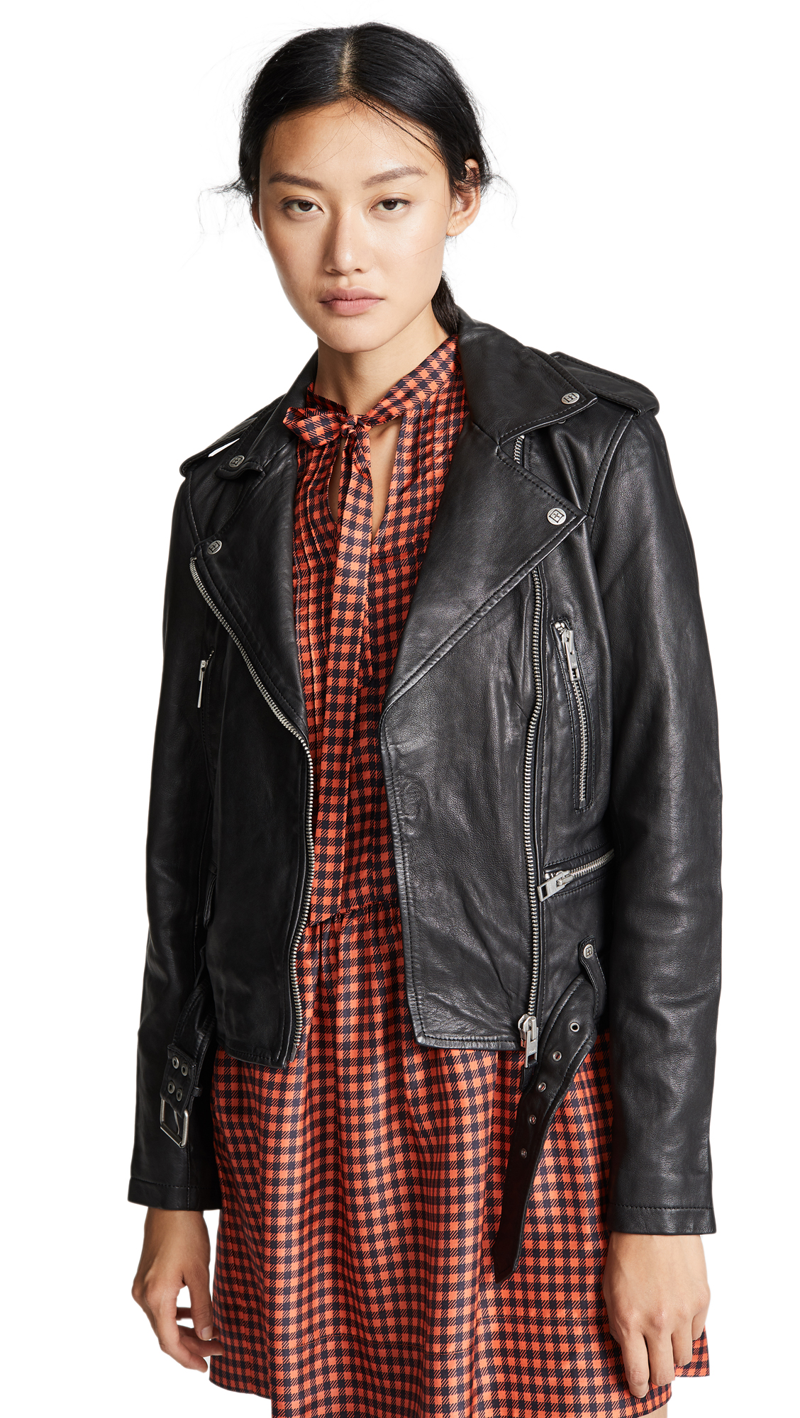 Ksubi Bad Company Leather Biker Jacket