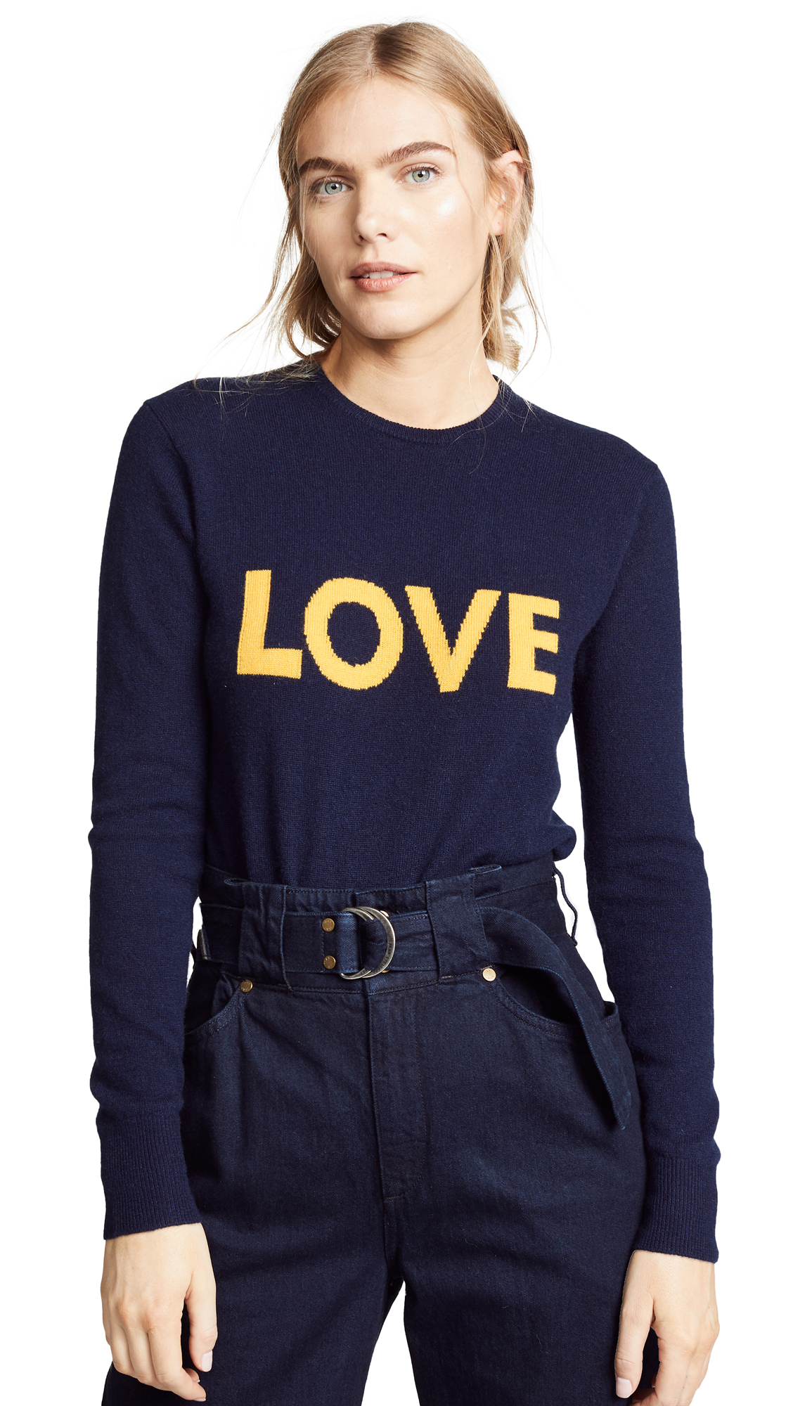 KULE The Love Cashmere Sweater in Navy/Gold