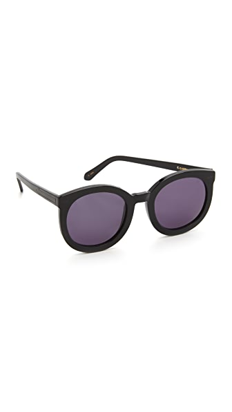 Karen Walker Super Duper Strength Sunglasses In Black