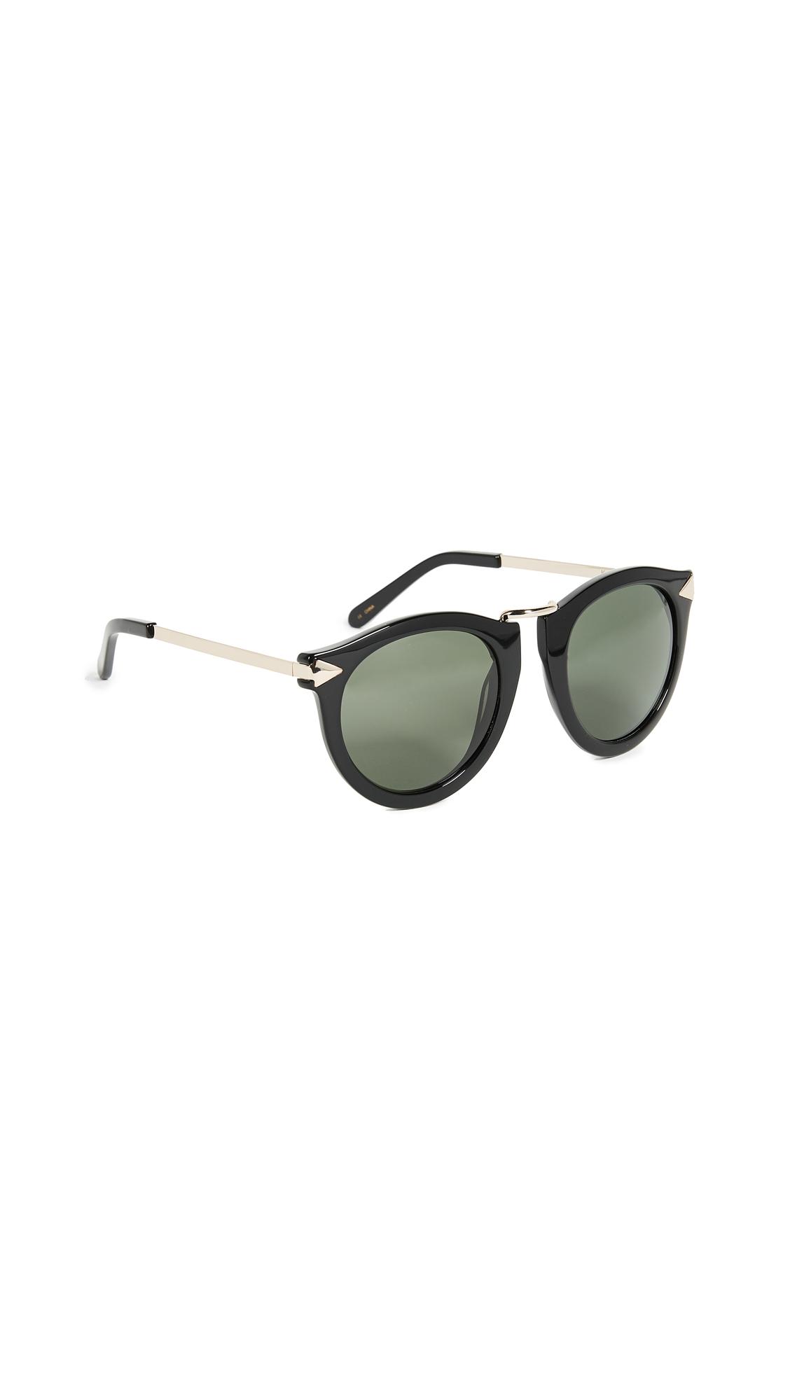 Karen Walker The Harvest Sunglasses In Black