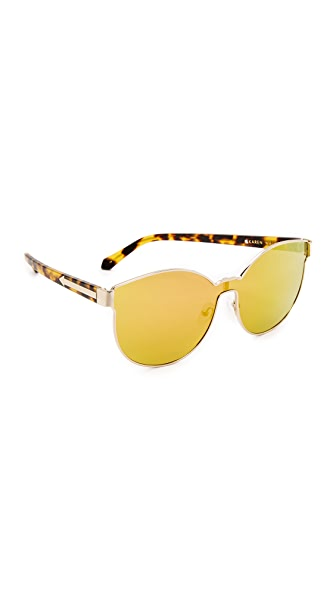 Karen Walker Star Sailor Sunglasses - Gold Pink/Rainbow Mirror