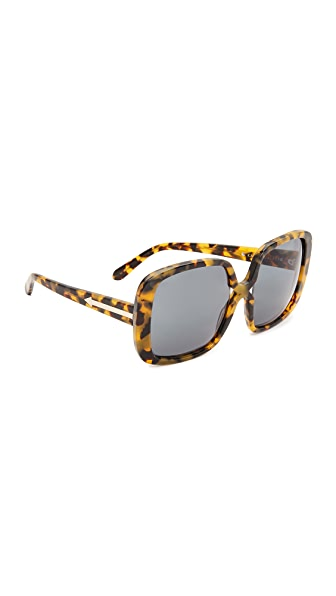 Karen Walker Marques Sunglasses - Crazy Tort Gold/G15 Mono