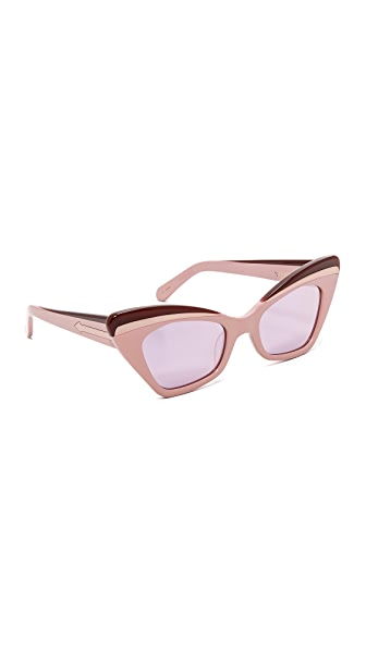 Karen Walker Babou Sunglasses - Pink/Rose Pink