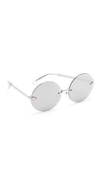 Karen Walker Disco Circus Sunglasses - Silver/Silver