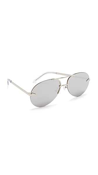 Karen Walker Love Hangover Sunglasses - Silver/Silver