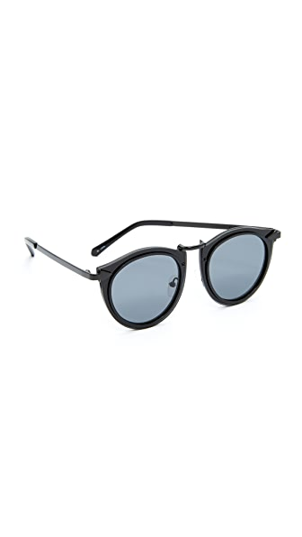 Karen Walker Superstars Solar Harvest Sunglasses In Black/Smoke Mono