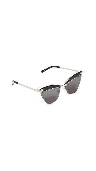 Karen Walker Sadie Sunglasses In Black/Smoke Mono