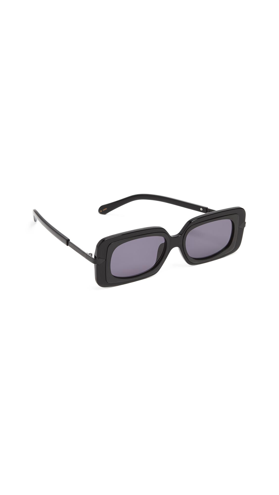 ac6f1cf38f7 Karen Walker Mr Binnacle Sunglasses In Black Smoke Mono ...