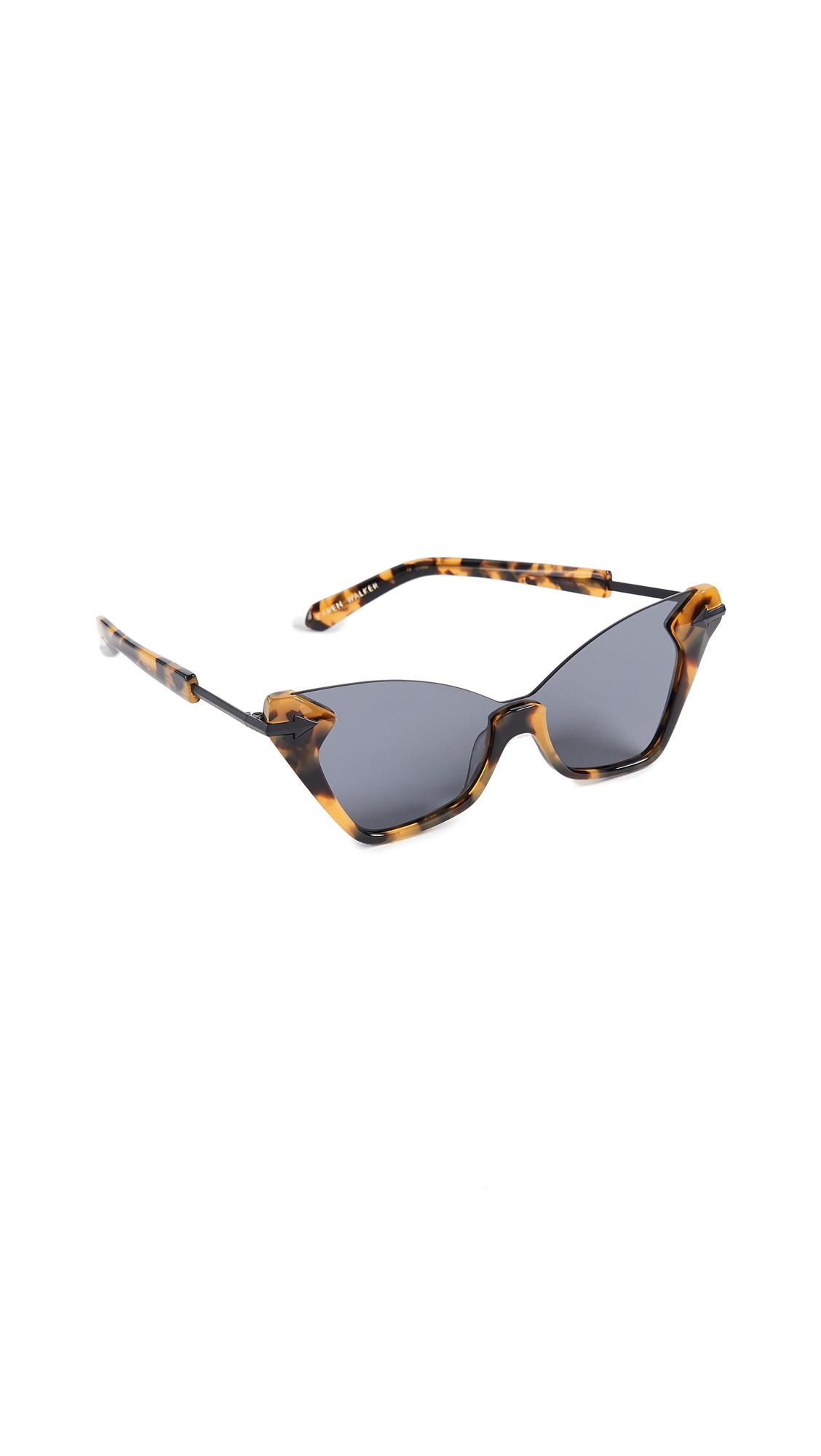 Karen Walker Sweet Cat Sunglasses In Tort/Black