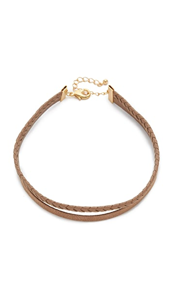 Lacey Ryan Braided Leather Choker Necklace