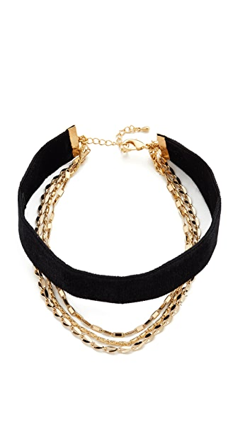 Lacey Ryan Layered Up Choker Necklace In Black/Gold