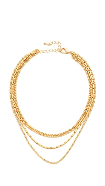 Lacey Ryan Triple Chain Choker Necklace