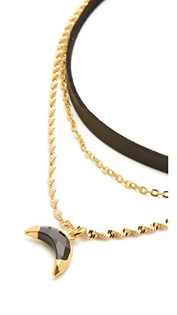 Lacey Ryan Black Spinel Horn Choker