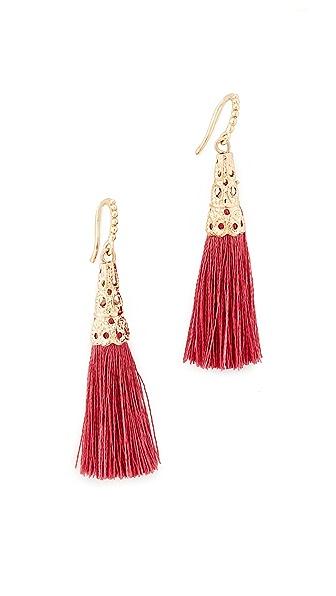 Lacey Ryan Tassel Earrings - Coral