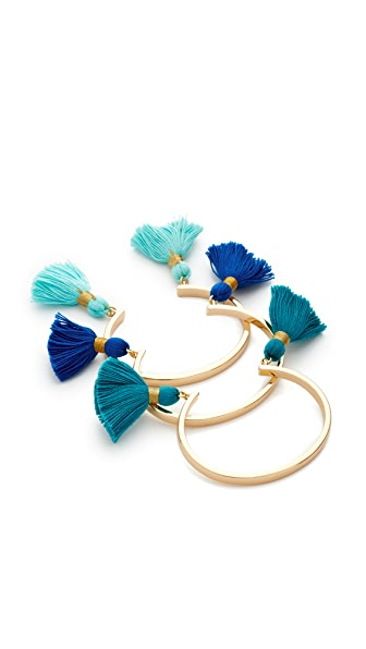 Lacey Ryan Tassel Bangle Set of 3 - Blue Multi