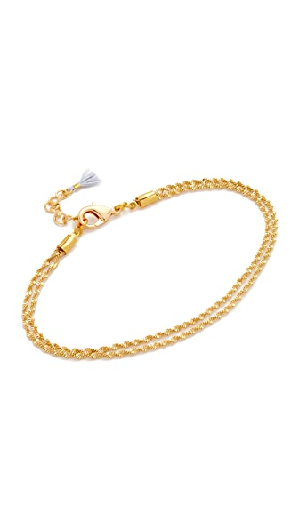 Lacey Ryan Double Shine On Anklet In Gold