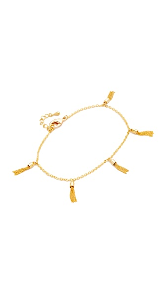 Lacey Ryan Multi Tassel Anklet - Gold