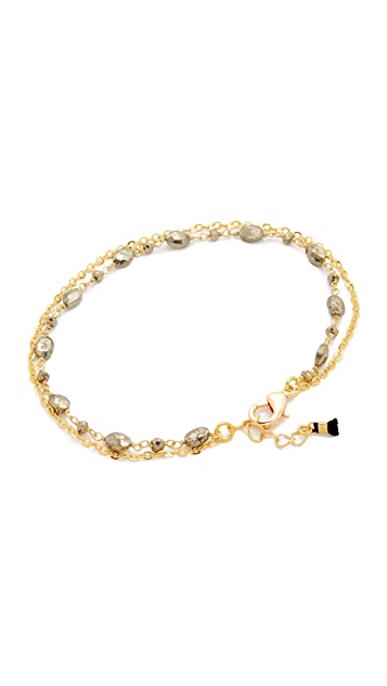 Lacey Ryan Double Pyrite Anklet