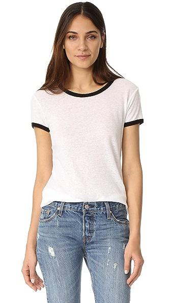The Lady & The Sailor Простая футболка с окантованным округлым вырезом