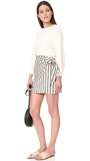 The Lady & The Sailor Wrap Mini Skirt