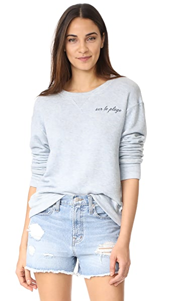 The Lady & The Sailor Sur La Plage Sweatshirt In Summer Blue/Navy