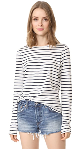 The Lady & The Sailor Relaxed L/S Tee - Navy Stripe