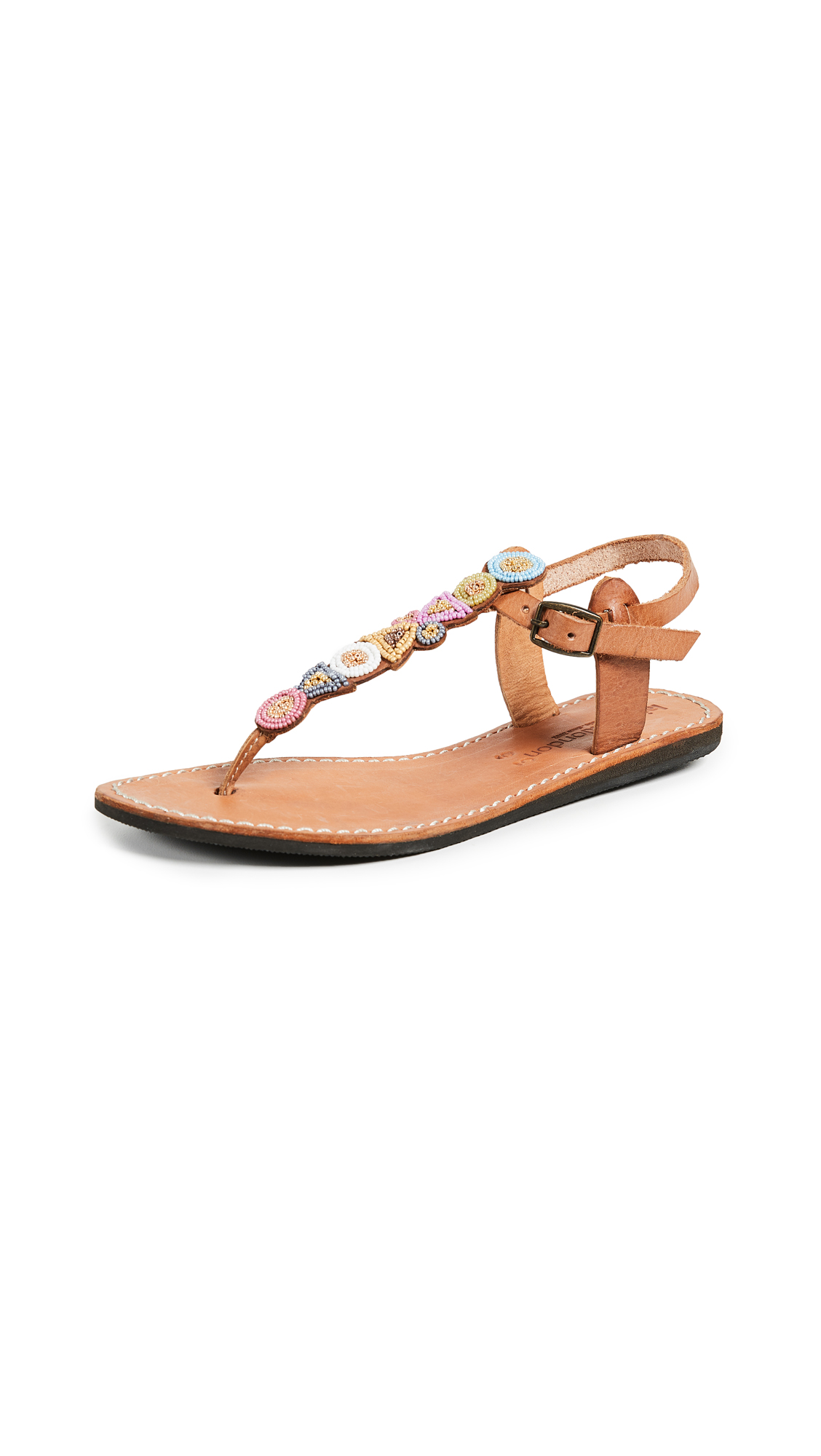 Laidback London Hague T-Strap Sandals