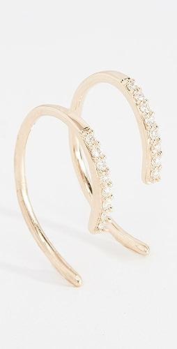 5b6426c75 LANA JEWELRY Diamond Hooked On Hoop Earr.