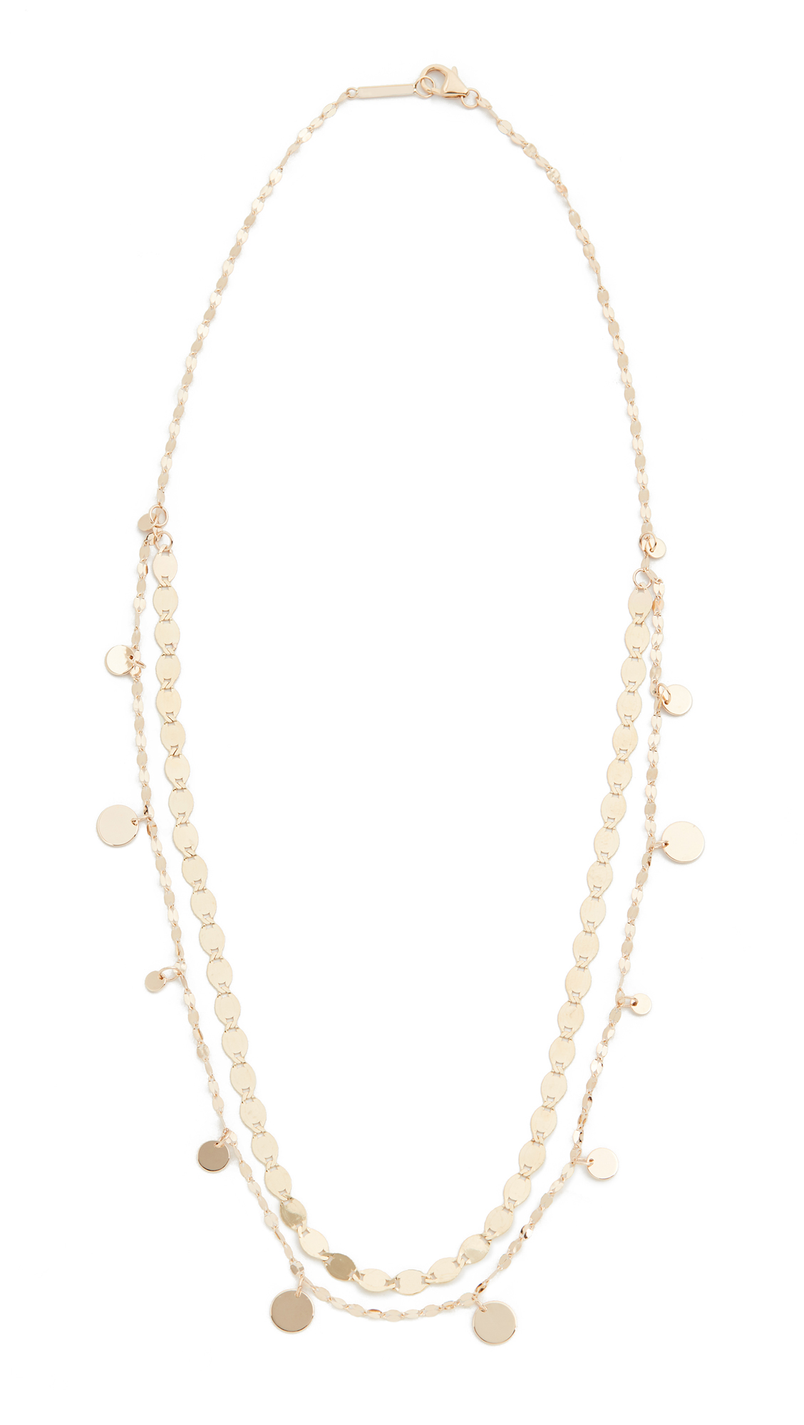 Lana Jewelry Gypsy Disc Necklace In Yellow Gold