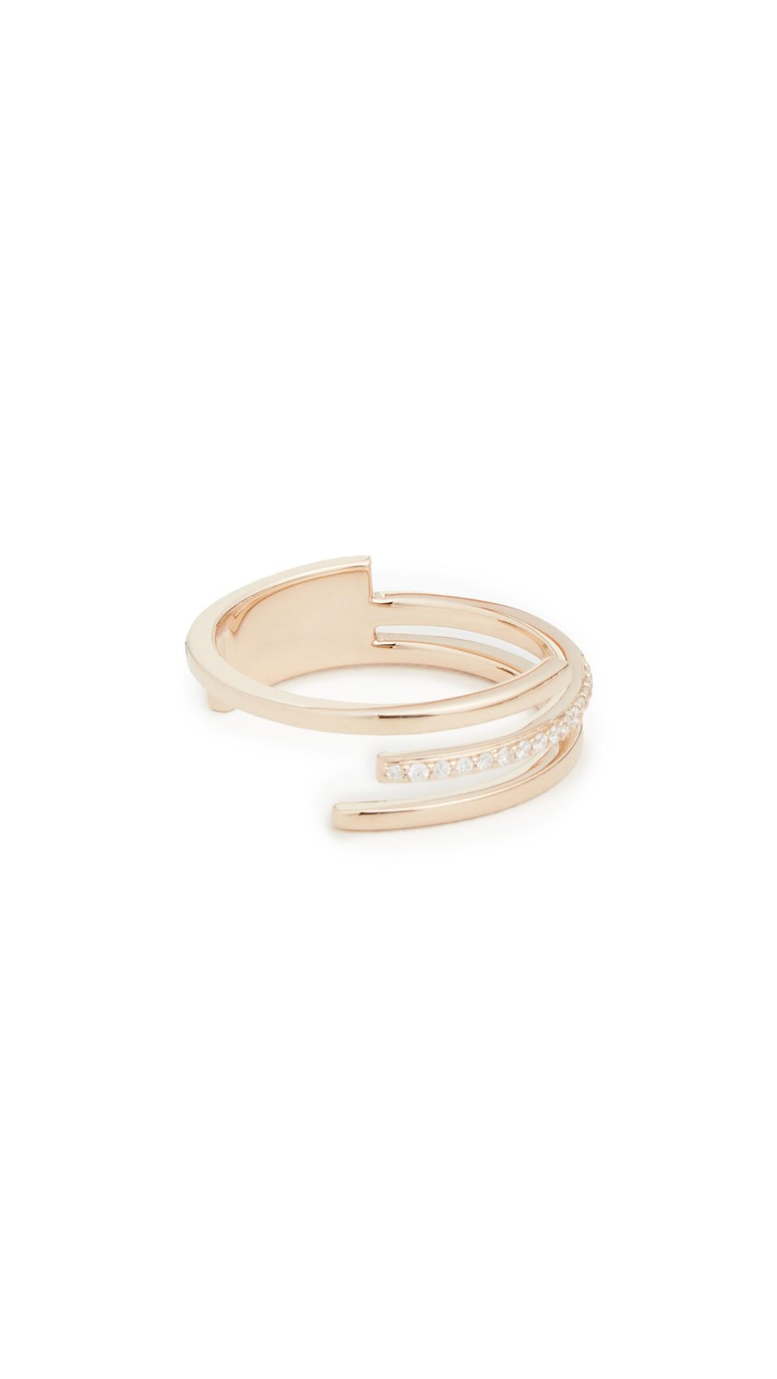 LANA JEWELRY 14k 3 Band Diamond Ring