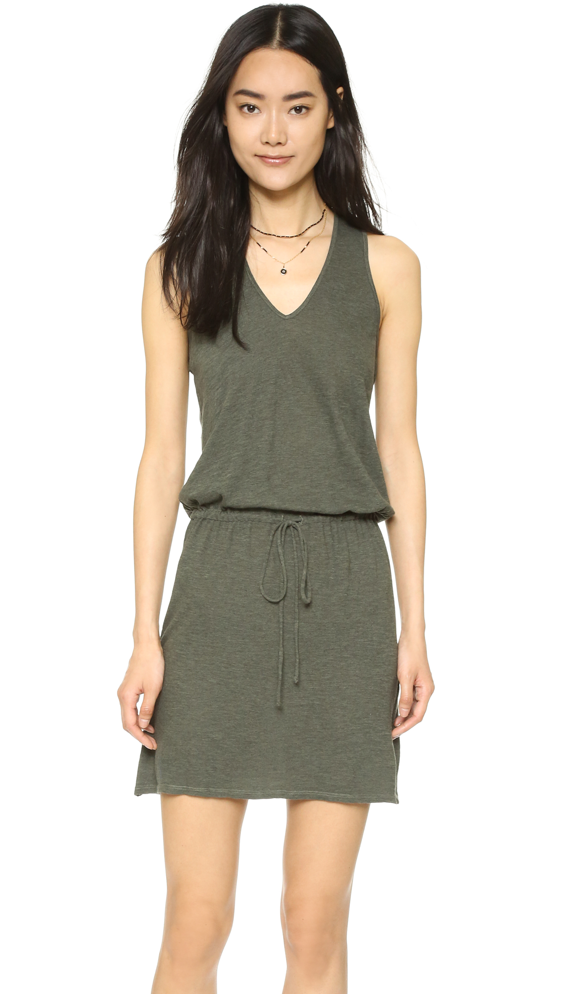 Lanston Racer Back Dress - Military at Shopbop