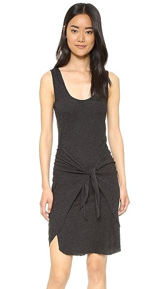 Lanston Tie Front Dress - Black at Shopbop