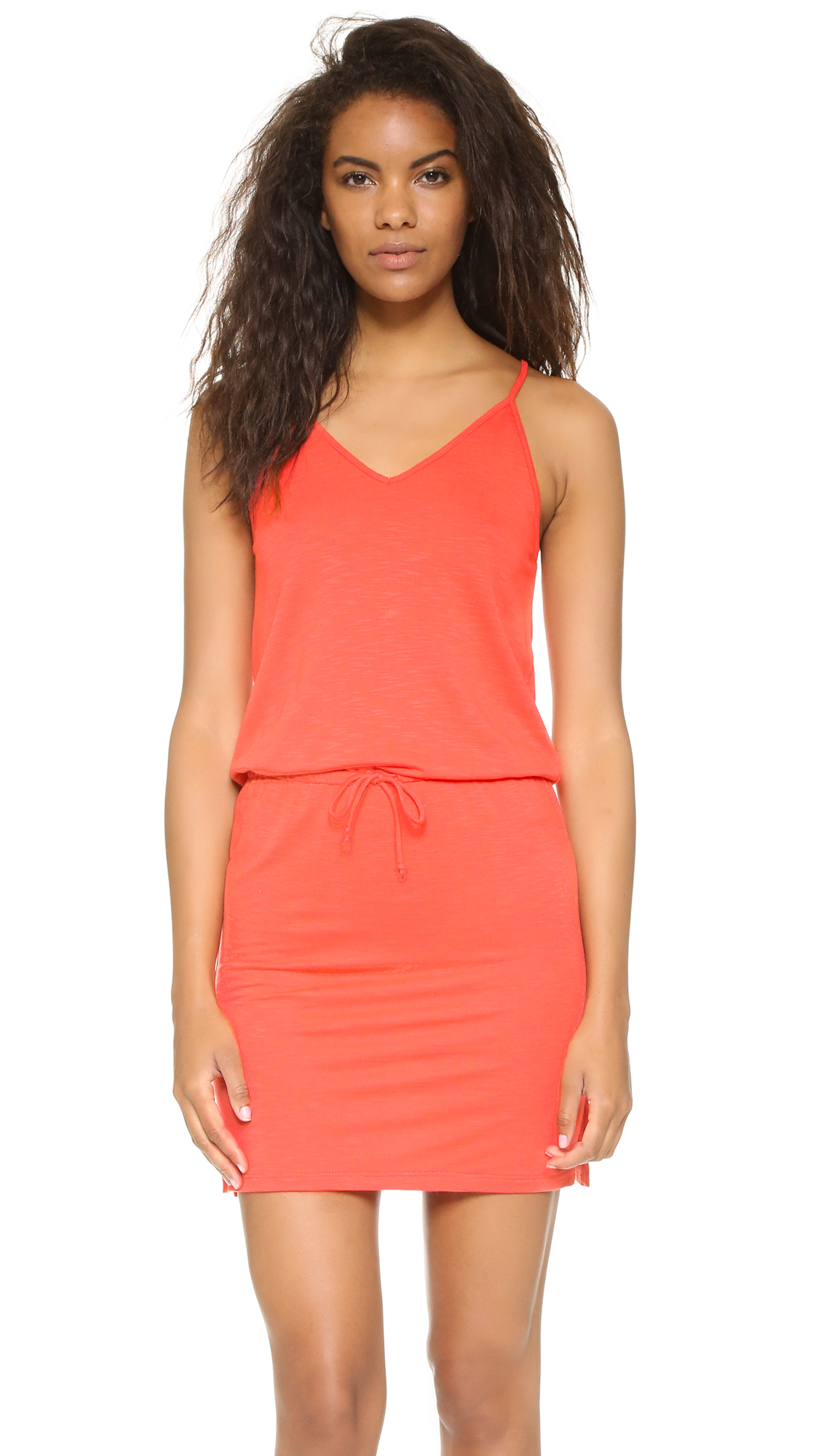 Lanston V Neck Mini Dress - Calypso at Shopbop