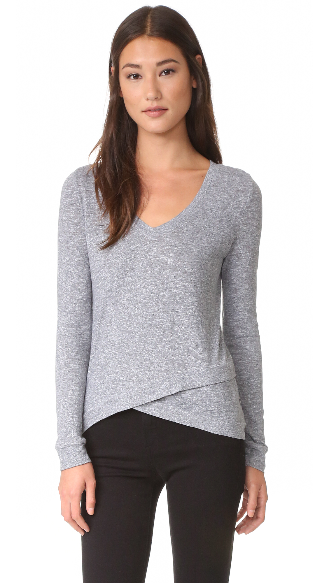 Lanston Asymmetrical Pullover - Heather at Shopbop