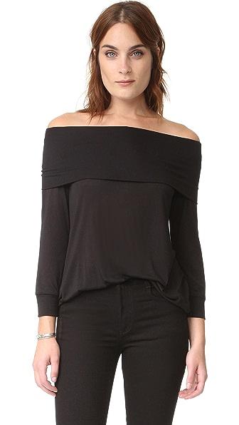 Lanston Off Shoulder Top - Black at Shopbop