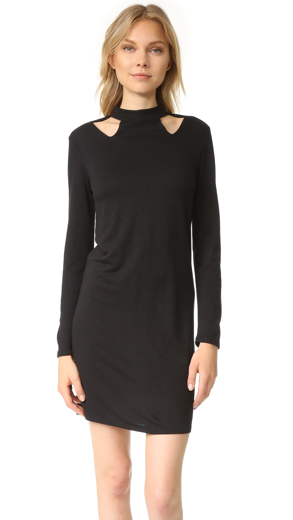 Lanston Cutout Turtleneck Mini Dress - Black at Shopbop