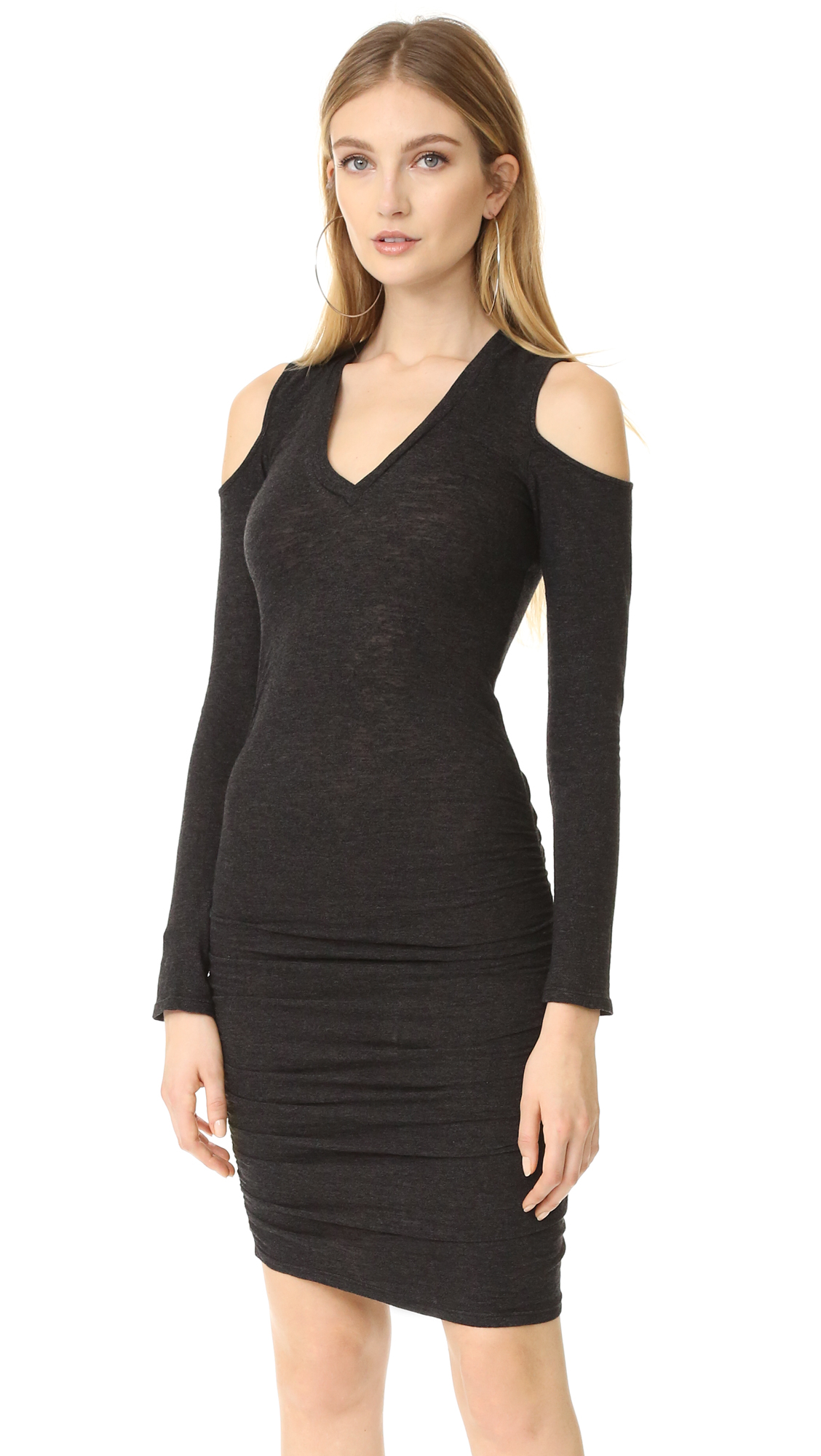 Lanston Cutout V Neck Dress - Black at Shopbop