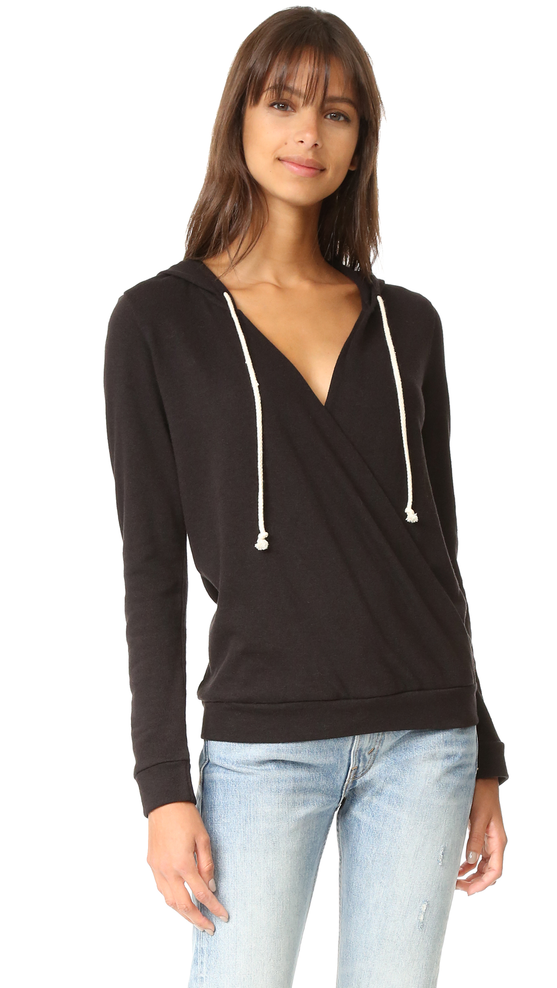 Lanston Surplice Hoodie - Black at Shopbop