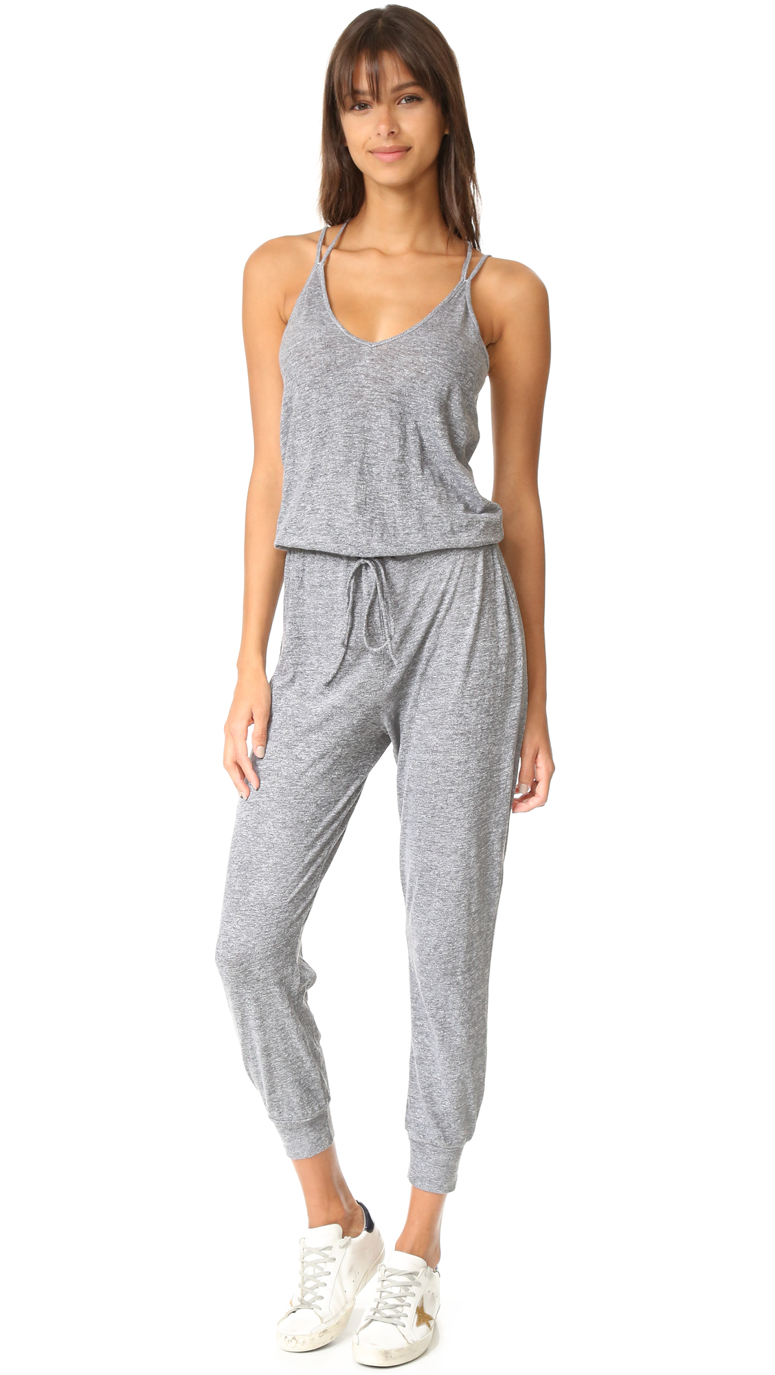 Lanston Double Strap Jumpsuit - Heather at Shopbop