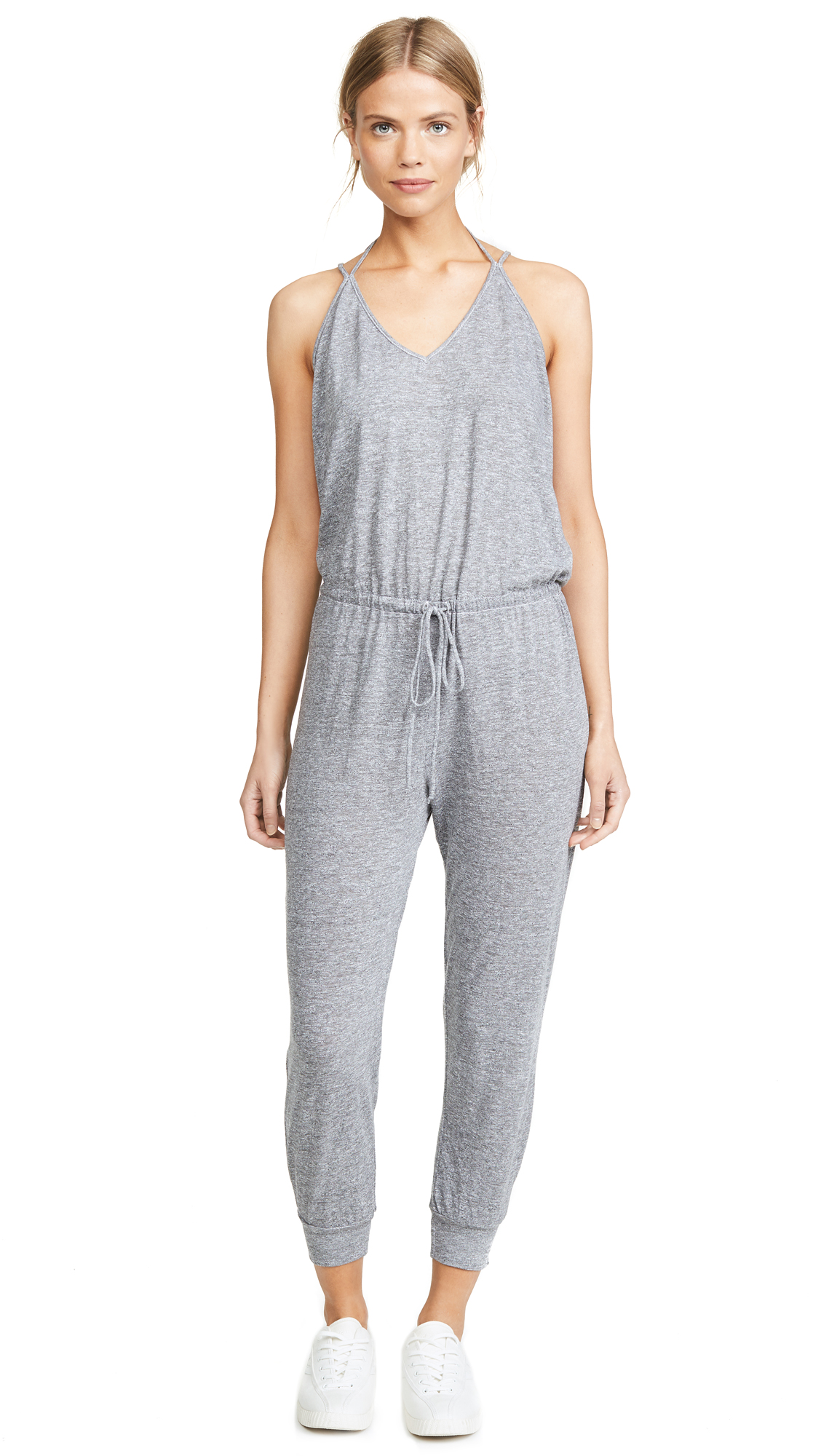 Lanston Double Strap Jumpsuit In Heather