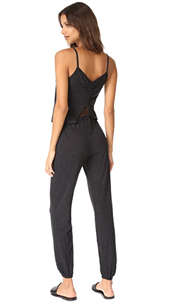 Lanston Drawstring Back Jumpsuit - Black