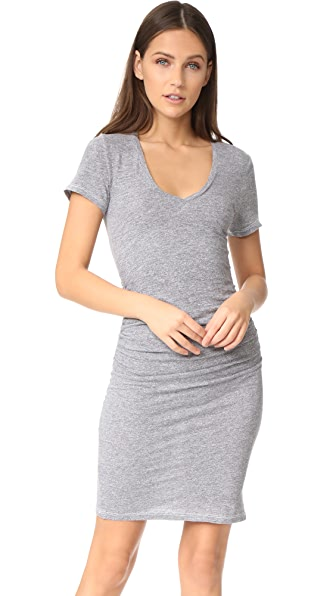 Lanston Ruched T-Shirt Dress - Heather