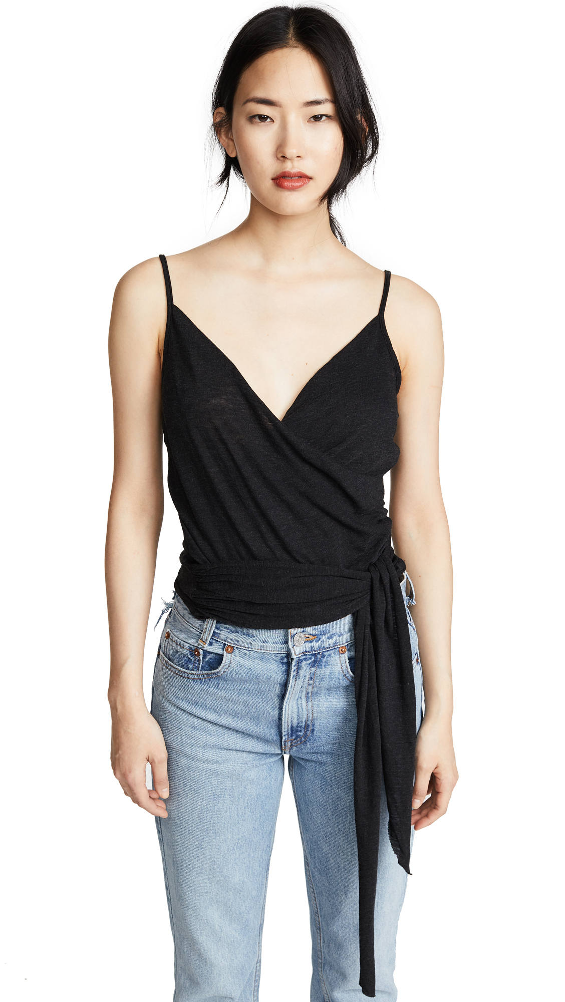 Lanston Wrap Cami In Black