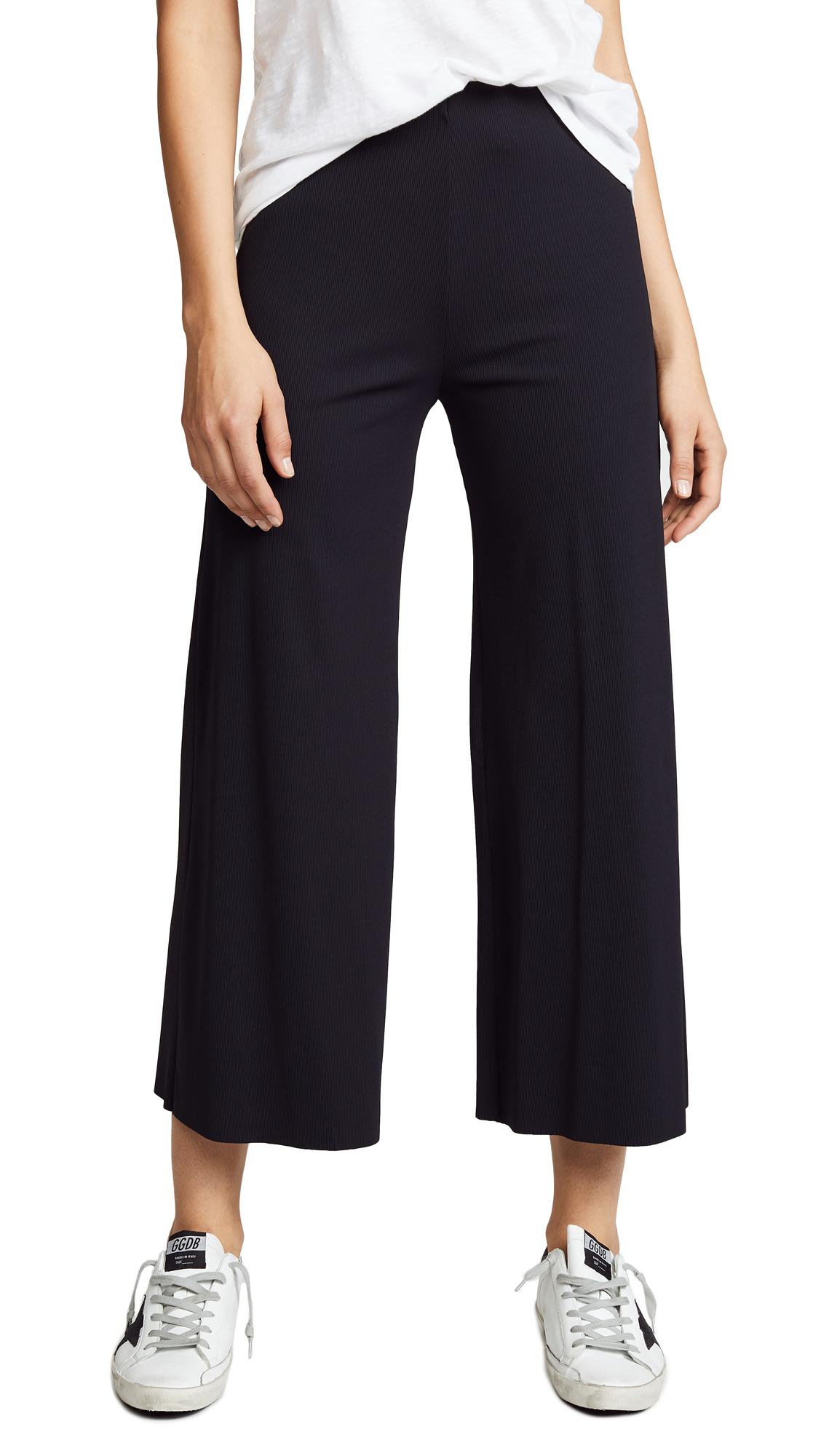 Lanston Ribbed Cropped Pants In Black