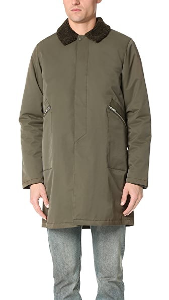 La Panoplie Sherpa Collar Mac Jacket